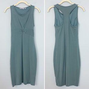 ATHLETA Olive Green Twist Front Racerback Dress XS